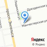 Манчестерская-4 на карте Санкт-Петербурга