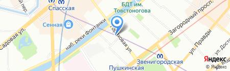 Генеральное консульство Израиль в г. Санкт-Петербурге на карте Санкт-Петербурга