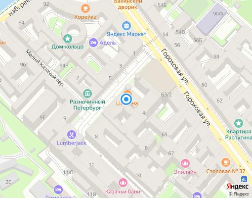 Товарищество собственников жилья «Большой Казачий,4» на карте Санкт-Петербурга
