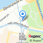 Эстелиор на карте Санкт-Петербурга