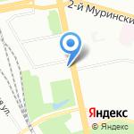 Бретелька на карте Санкт-Петербурга