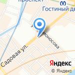 5-е авеню на карте Санкт-Петербурга