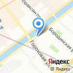 Далпорт Сити на карте Санкт-Петербурга