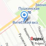 Дорожное на карте Санкт-Петербурга
