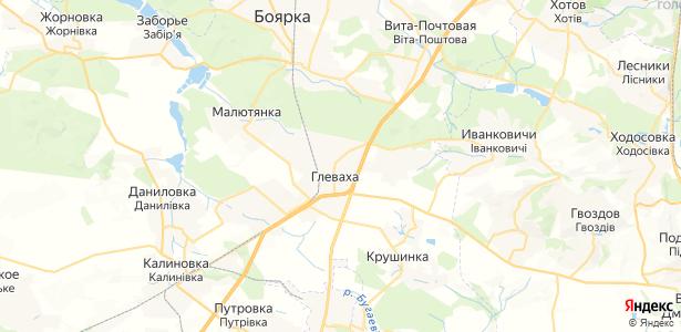 Глеваха на карте