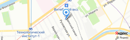 БЛИСТЕР на карте Санкт-Петербурга