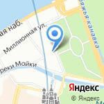 Марсово поле на карте Санкт-Петербурга