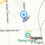 Обуховское на карте Санкт-Петербурга