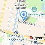 Ассоциация работников туристско-экскурсионных предприятий на карте Санкт-Петербурга