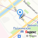 Ателье на карте Санкт-Петербурга