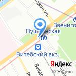 Киоск по продаже цветов на карте Санкт-Петербурга