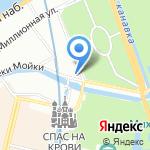 Митра на карте Санкт-Петербурга