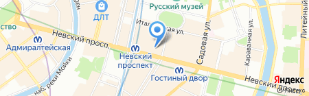 Коламбия Трэвел на карте Санкт-Петербурга