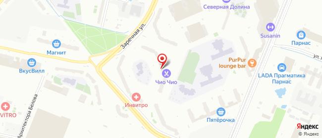 Карта расположения пункта доставки Санкт-Петербург Михаила Дудина в городе Санкт-Петербург