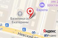 Схема проезда до компании Терция в Санкт-Петербурге