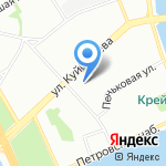 А. Ананов на карте Санкт-Петербурга