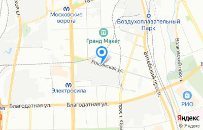 Местоположение на карте пункта техосмотра по адресу г Санкт-Петербург, ул Рощинская, д 9 литер в