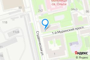 Комната в двухкомнатной квартире в Санкт-Петербурге 1-й Муринский пр-т, 2