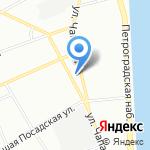 Кот на карте Санкт-Петербурга