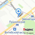 Антенный рай на карте Санкт-Петербурга
