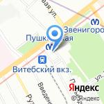 Трансмост на карте Санкт-Петербурга