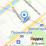 Магазин белорусского трикотажа на карте Санкт-Петербурга