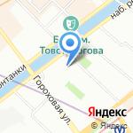 Балтик Экскорт Холдинг на карте Санкт-Петербурга