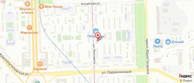Карта расположения пункта доставки Санкт-Петербург Ленсовета в городе Санкт-Петербург