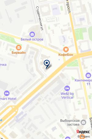 КОНСТРУКТОРСКО-ТЕХНОЛОГИЧЕСКОЕ БЮРО РАДУГА на карте Санкт-Петербурга