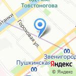 Иртель на карте Санкт-Петербурга