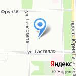 Город на карте Санкт-Петербурга