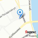 Алые паруса на карте Санкт-Петербурга