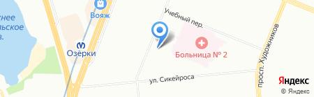 Амфир на карте Санкт-Петербурга