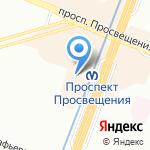 Леон на карте Санкт-Петербурга