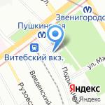 Альганика на карте Санкт-Петербурга