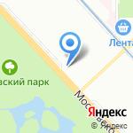 Почтовое отделение №158 на карте Санкт-Петербурга