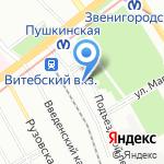 Зарядкин на карте Санкт-Петербурга