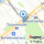 Салон цветов на карте Санкт-Петербурга