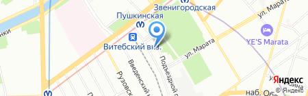 Гранит-Инвест на карте Санкт-Петербурга