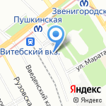Pringo на карте Санкт-Петербурга