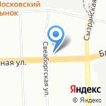 Незнакомка на карте Санкт-Петербурга