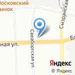 Комета на карте Санкт-Петербурга