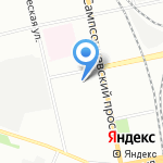 Детский сад №21 на карте Санкт-Петербурга