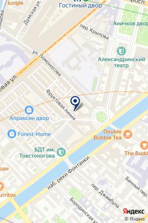 РЕКЛАМНАЯ ФИРМА ПОЛИГРАФИЯ на карте Ломоносова