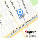 Теплый дом на карте Санкт-Петербурга