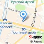 Стоматология на карте Санкт-Петербурга
