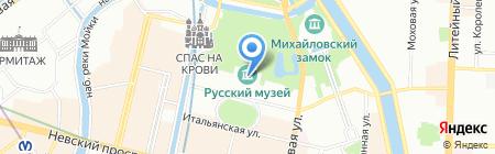 Государственный Русский музей на карте Санкт-Петербурга