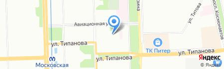 Средняя общеобразовательная школа №485 с углубленным изучением французского языка на карте Санкт-Петербурга