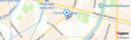 Солнечный Апельсин на карте Санкт-Петербурга