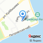 Нахимовское военно-морское училище на карте Санкт-Петербурга